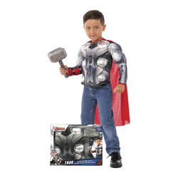 Marvel Thor Muscle Chest Shirt & Hammer Set by Rubies Costume