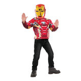 Marvel Iron Man Metallic Muscle Top by Rubies Costume