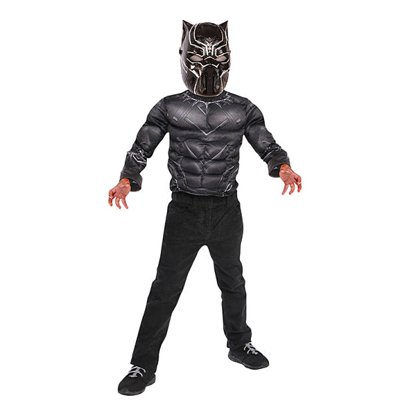 Marvel Black Panther Muscle Top Metallic by Rubies Costume