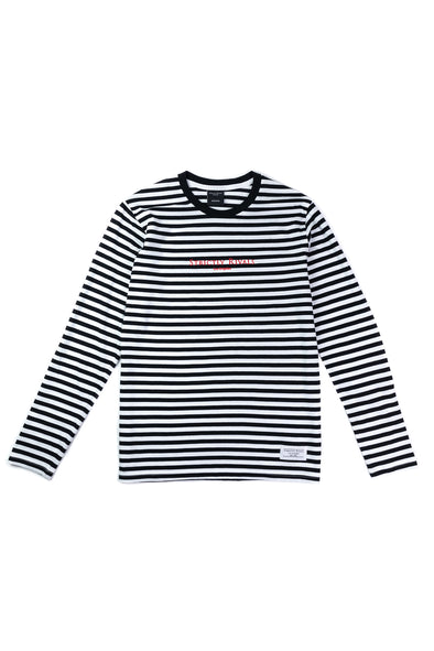 Strictly Rivals Striped Long Sleeve - BLACK/WHITE