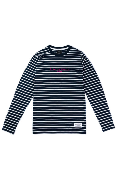 Strictly Rivals Striped Long Sleeve - NAVY/WHITE