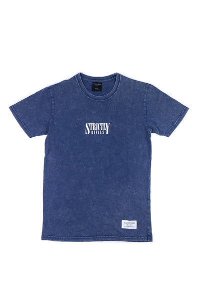 Strictly Rivals Stone Washed Tee - BLUE