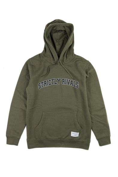Strictly Rivals Collegiate Hoodie - OLIVE