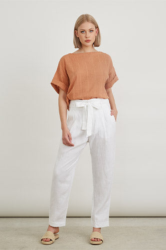 Boat Neck Boxy Top