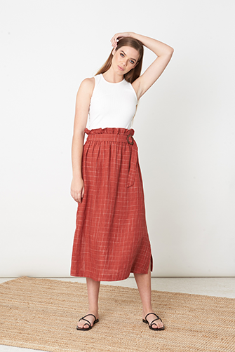 Buckle Trim Skirt