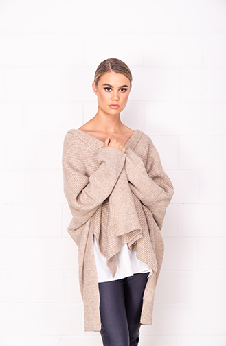 Feature Rib Fluff Knit Jumper