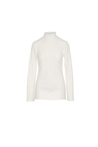 ROLL NECK JERSEY/RIB TOP
