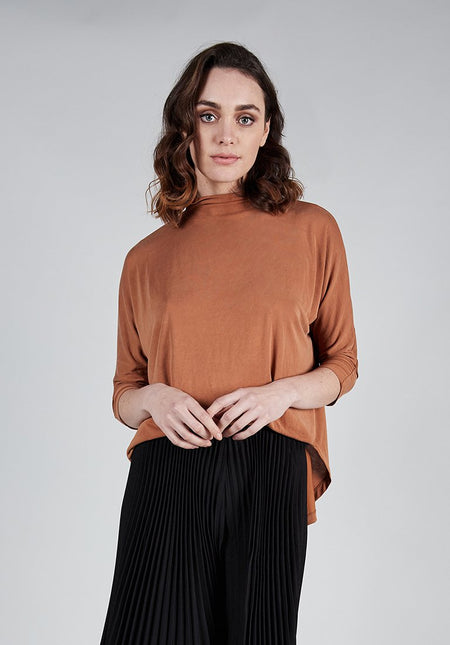HIGH NECK TIE TOP