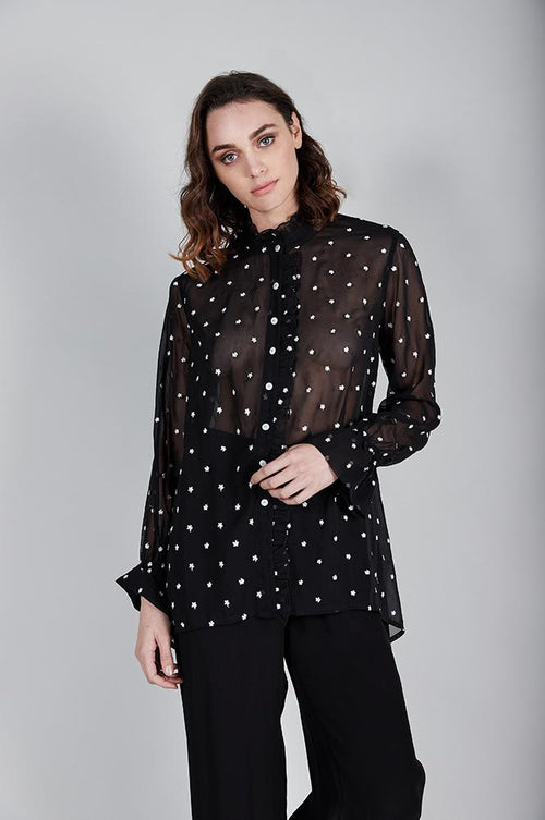 Daisy Dots Embroidered Georgette