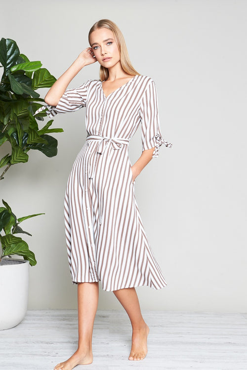 TIE SLEEVE SUNDRESS