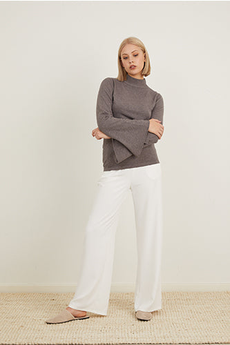 Fitted Bell Sleeve Knit