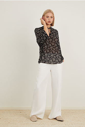 WIDE LEG SUITING PANT