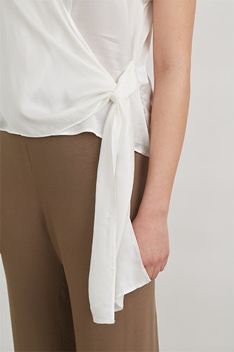 Satin Back Wide Leg Pant