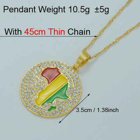 9 style Africa map pendant necklace silvergold plated jewelry 45