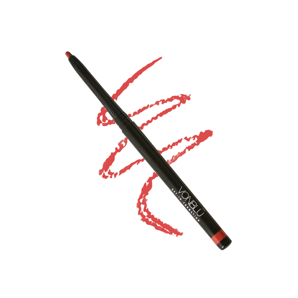 Ara Red Lip Liner created by Australian made, vegan brand, VonBlü cosmetics. All products produced by VonBlü are cruelty free and non-animal tested.