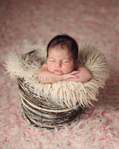 Basket as a prop for new born baby photo