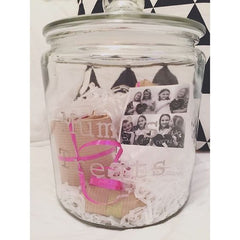 photos in mason jar
