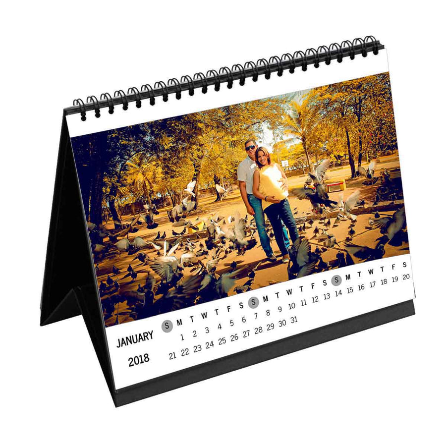 Calendars-2019 Photo Wrap Monthly Desk Calendar-6 inches x 8 inches-White