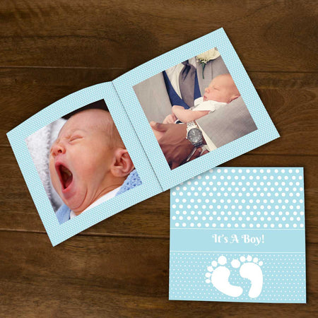 Softcover Photo Books-Baby Boy Flip Photo Book-