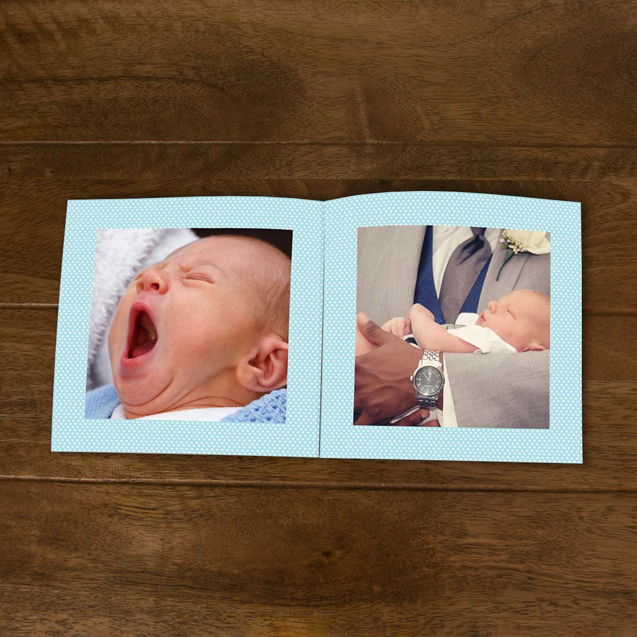 Softcover Photo Books-Baby Boy Flip Photo Book-6 inches x 6 inches-20 Pages