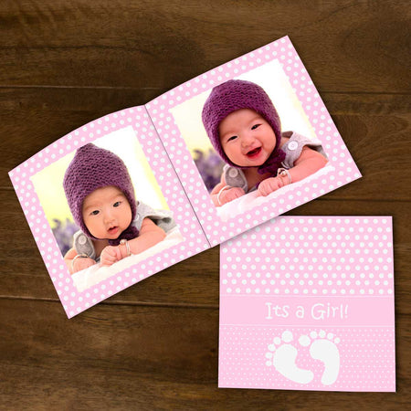Softcover Photo Books-Baby Girl Flip Photo Book-
