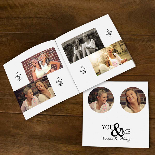 Softcover Photo Books-Best Friends Forever Grey Flip Photo Book-