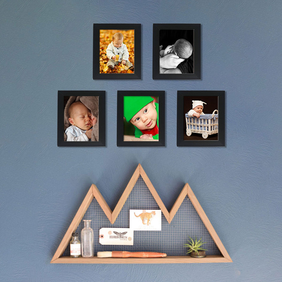 Photo Walls-Macro Framed Prints Set of 5-5in x 7in-Black