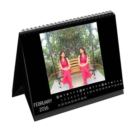 Calendars-2018 Instasquare Horizontal Dates Monthly Desk Calendar-6 inches x 8 inches-