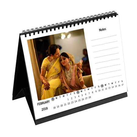 Calendars-2018 Instasquare Vertical Dates with Notes Monthly Desk Calendar-