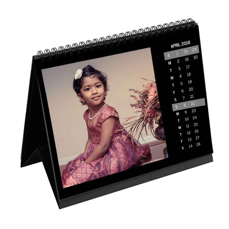 Calendars-2020 Instasquare Vertical Dates Monthly Desk Calendar-6 inches x 8 inches-Black