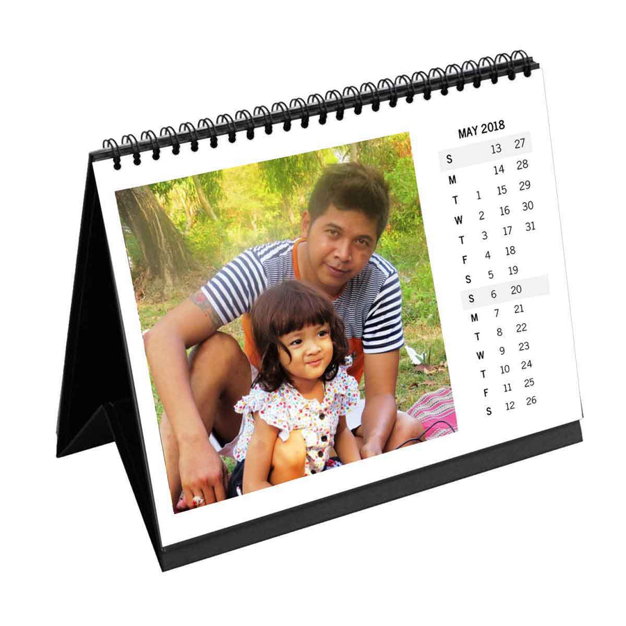 Calendars-2020 Instasquare Vertical Dates Monthly Desk Calendar-6 inches x 8 inches-White
