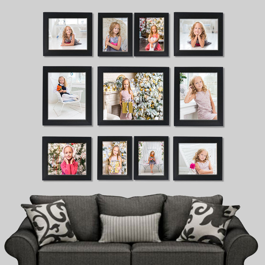 Photo Walls-Mighty Photo Wall Combo Set of 11-Black-