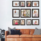 Photo Walls-Mighty Photo Wall Combo Set of 11-Brown-