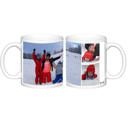 Mugs-3 Photo Collage Photo Mug-