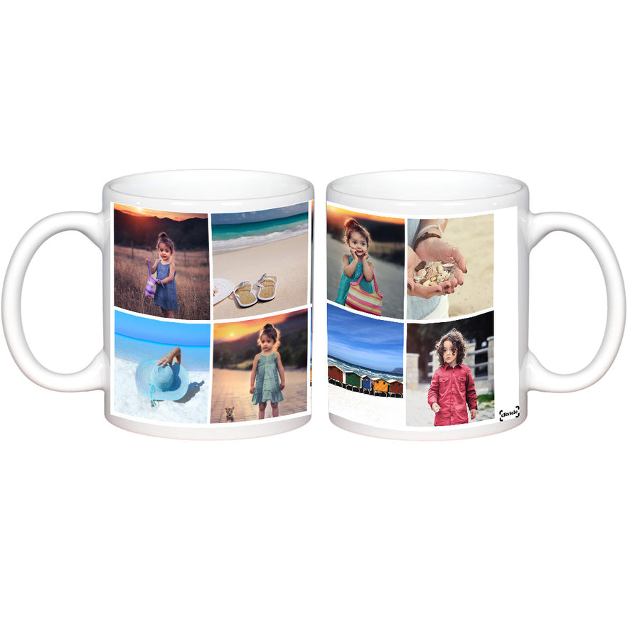 Mugs-8 Photo Collage Photo Mug-