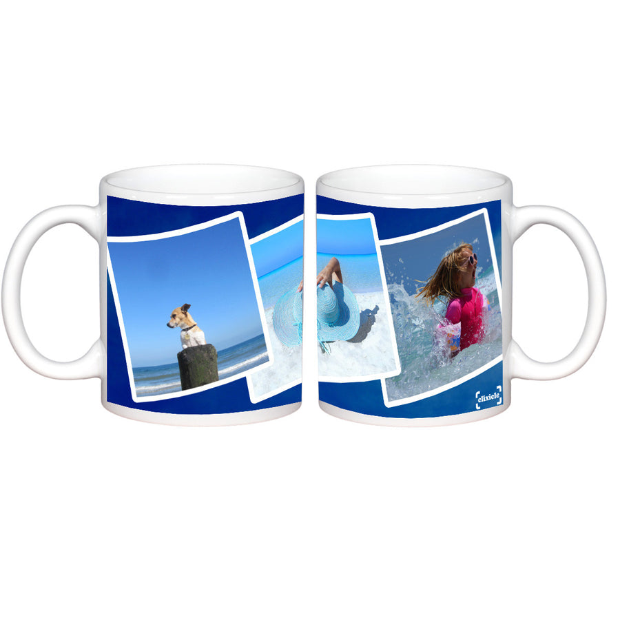 Mugs-True Blue Photo Mug-