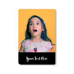 Fridge Magnets-My Picture Stories Photo Wrap Photo Magnet - Black Portrait-