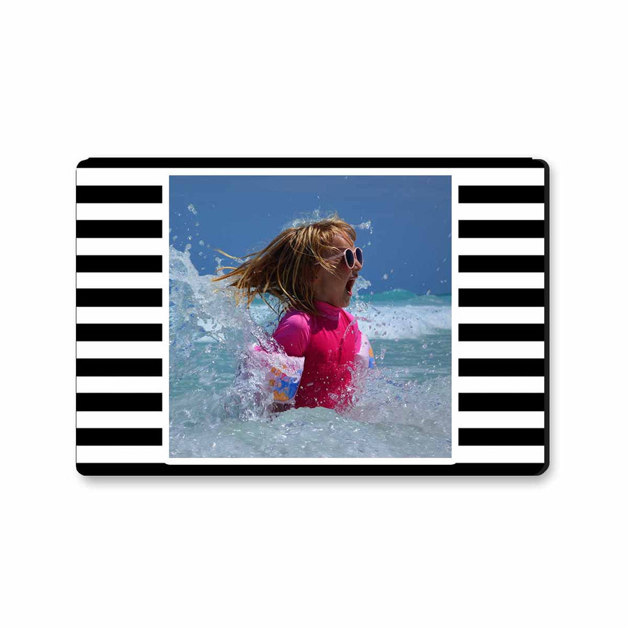Fridge Magnets-For the love of stripes Photo Magnet - Black & White Landscape-