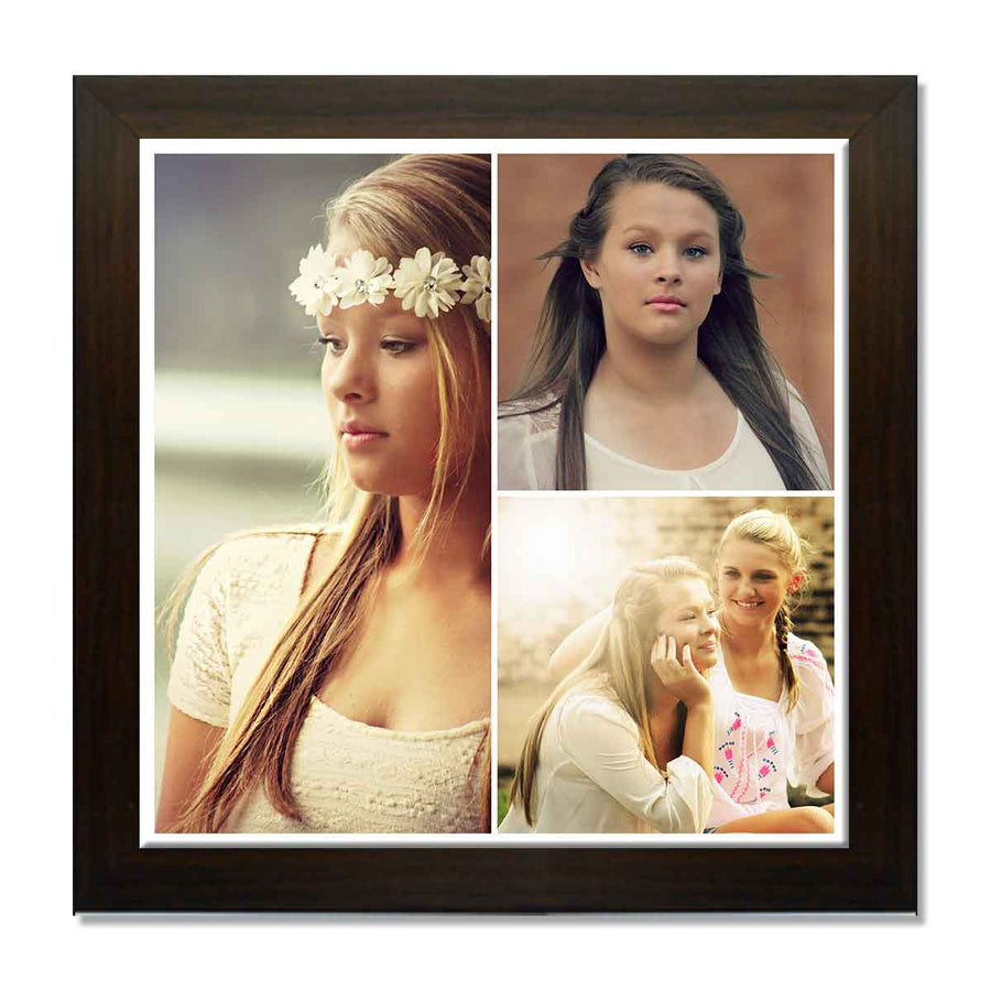 Collage Posters-Back to Squares 3 Photo Collage Poster-Print Only (Without Frame)-