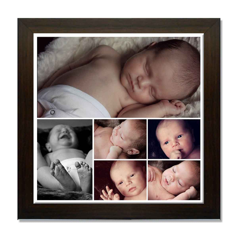 Collage Posters-Back to Squares 6 Photo Collage Poster-Print Only (Without Frame)-