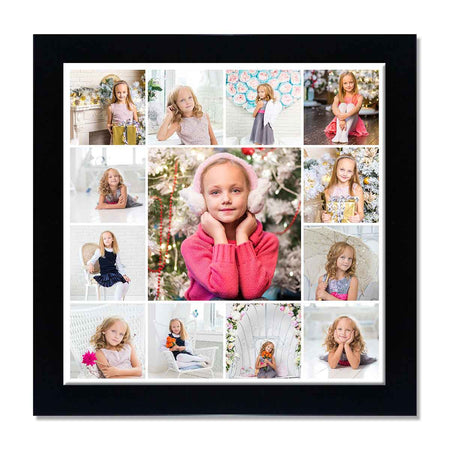 Collage Posters-Back to Squares 13 Photo Collage Poster-Print Only (Without Frame)-