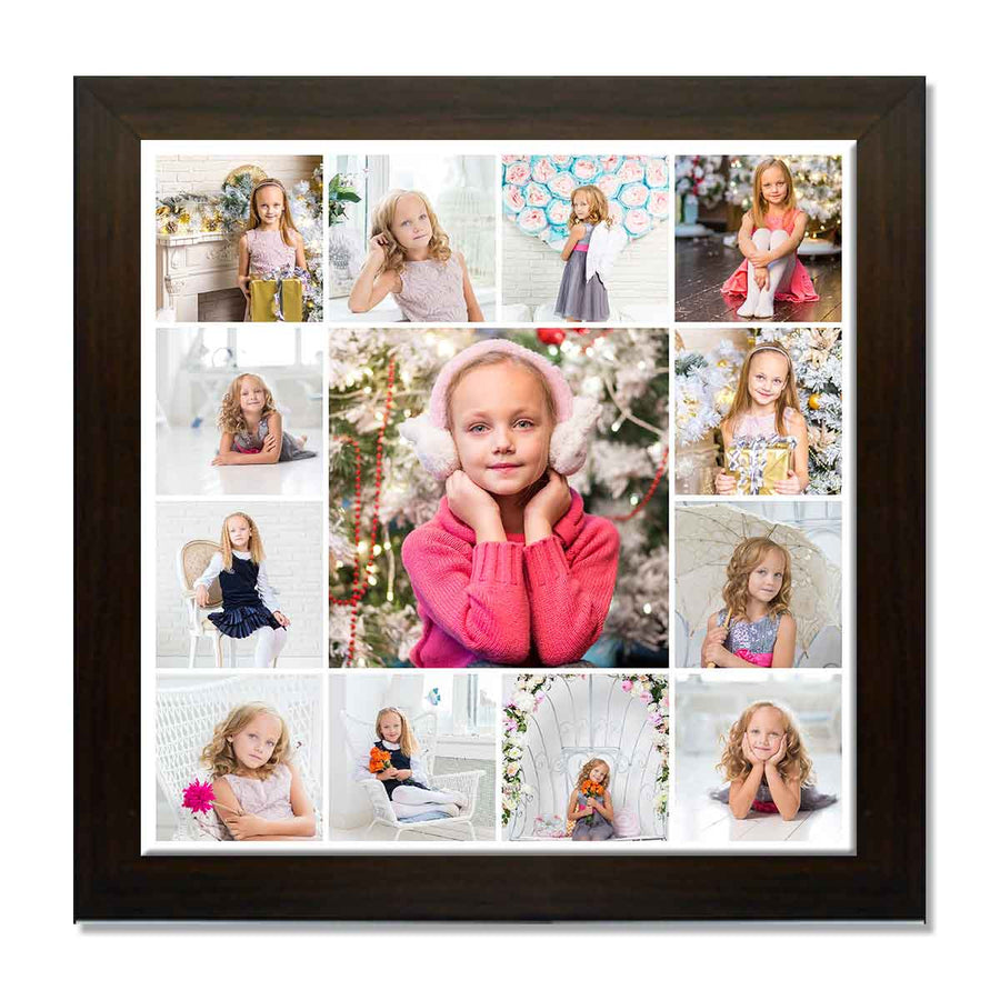 Collage Posters-Back to Squares 13 Photo Collage Poster-