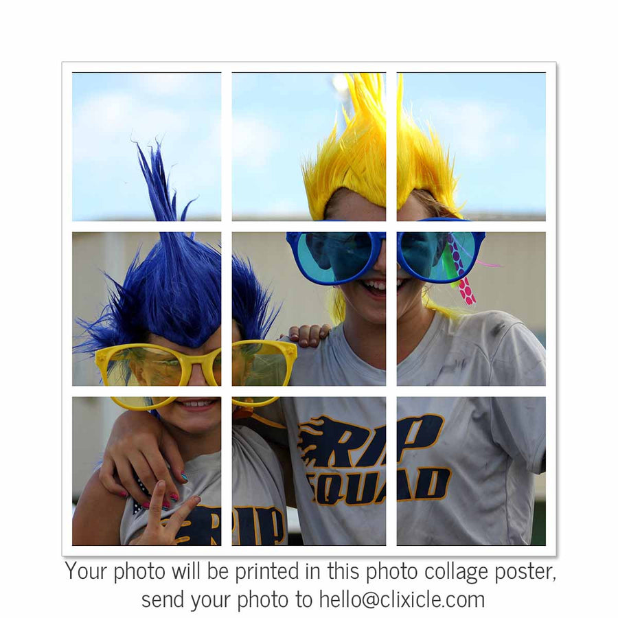 Collage Posters-Photo Split Collage Poster-Print Only (Without Frame)-