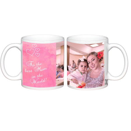 Mugs-Best Mom in the World Photo Mug-