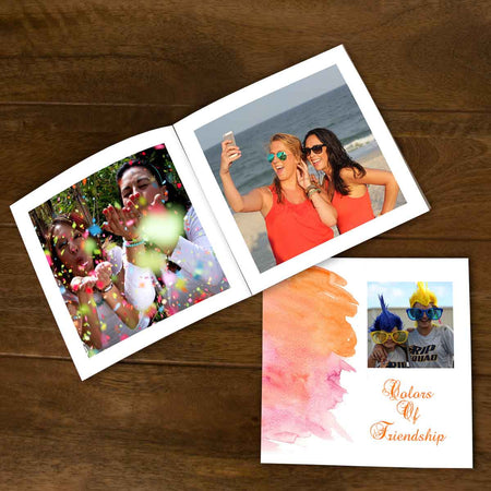 Softcover Photo Books-Watercolor Flip Photo Book-6 inches x 6 inches-20 Pages