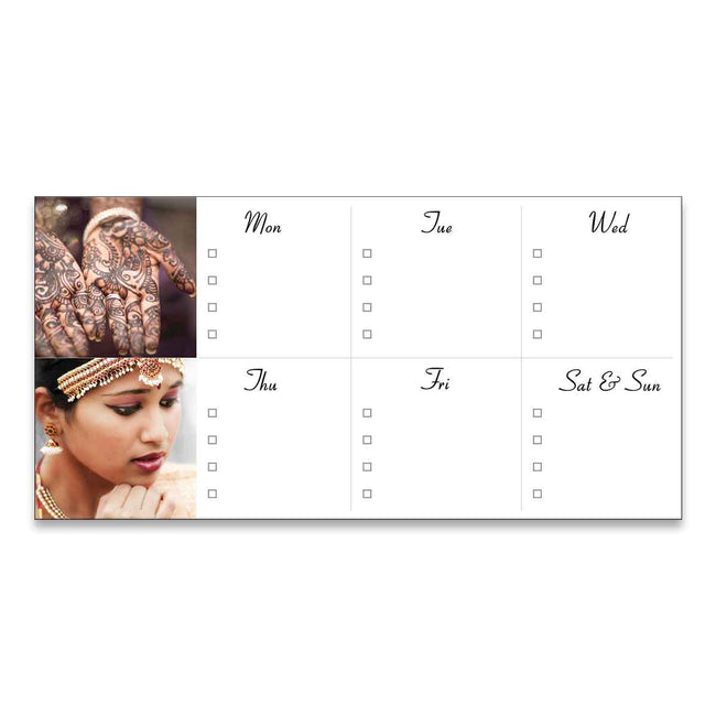 Magnetic Notepads-Weekly Planner Landscape Magnetic Notepad-