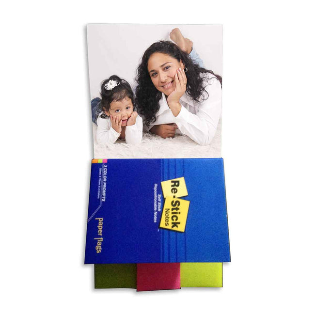 Magnetic Notepads-Personalized Multicolor Post-it Magnetic Notepad-