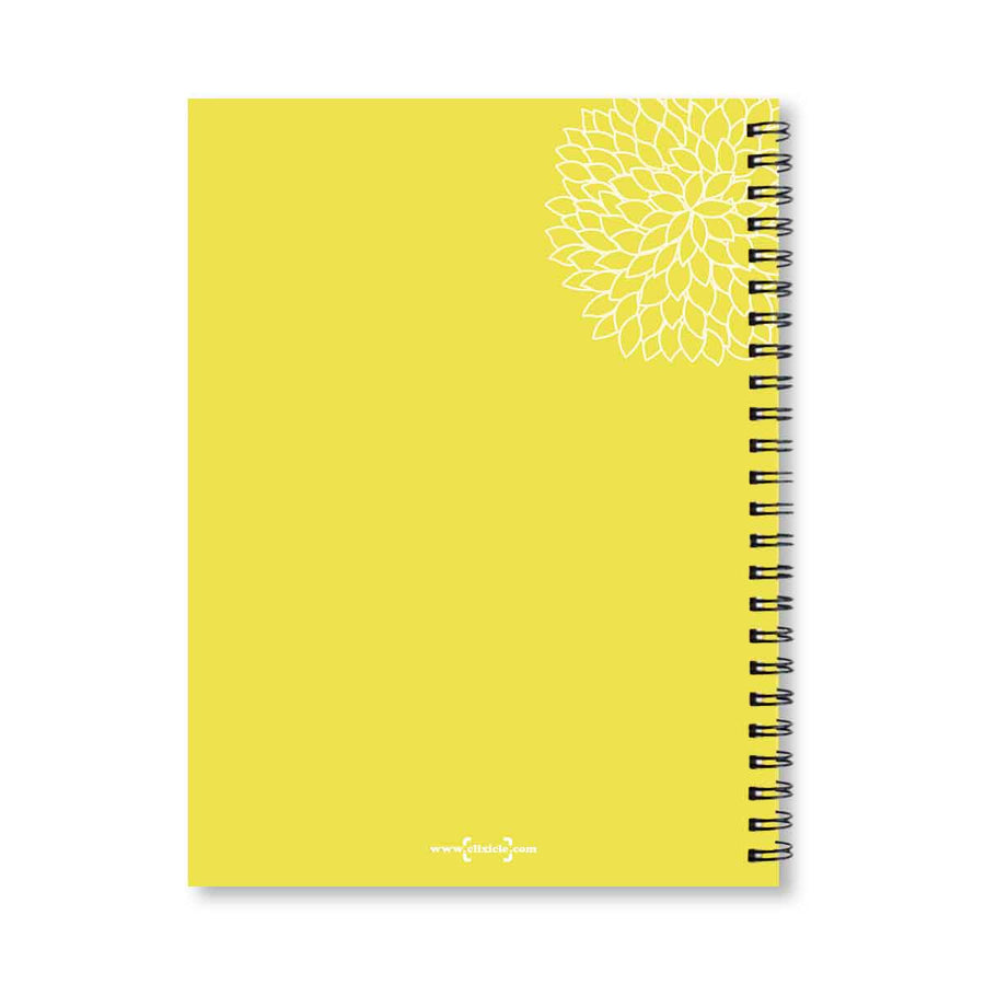Notebooks-Floral Mandala Personalized Notebook-