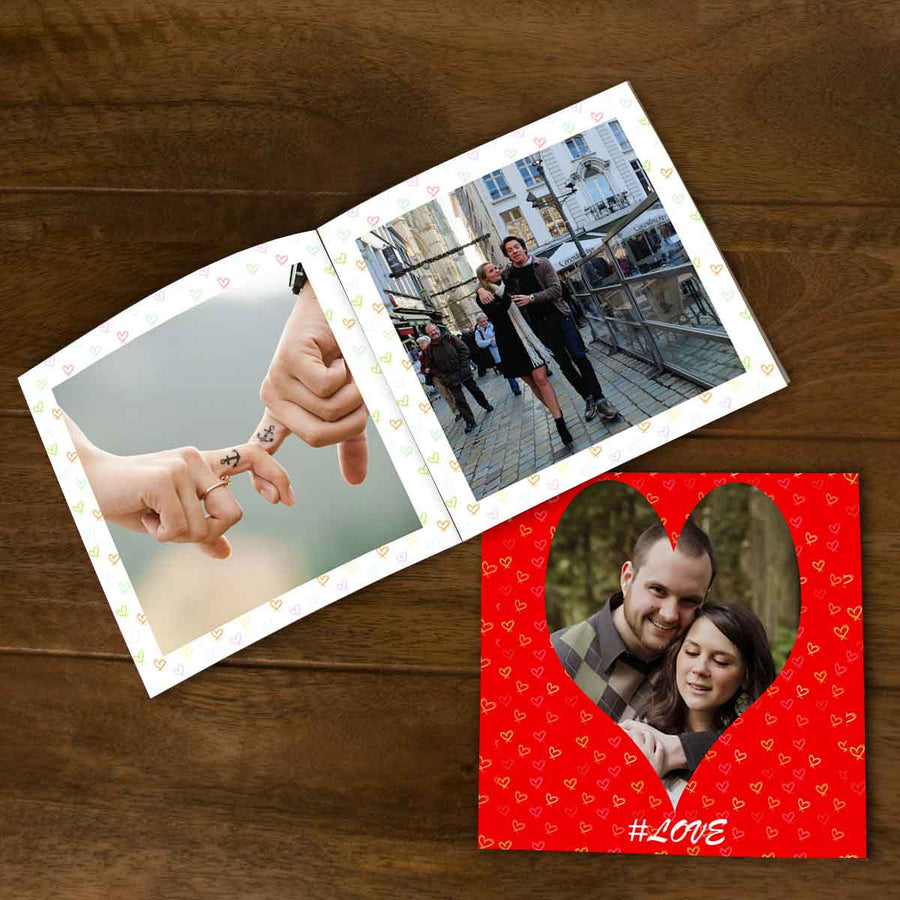 Softcover Photo Books-This is Love Red Flip Photo Book-