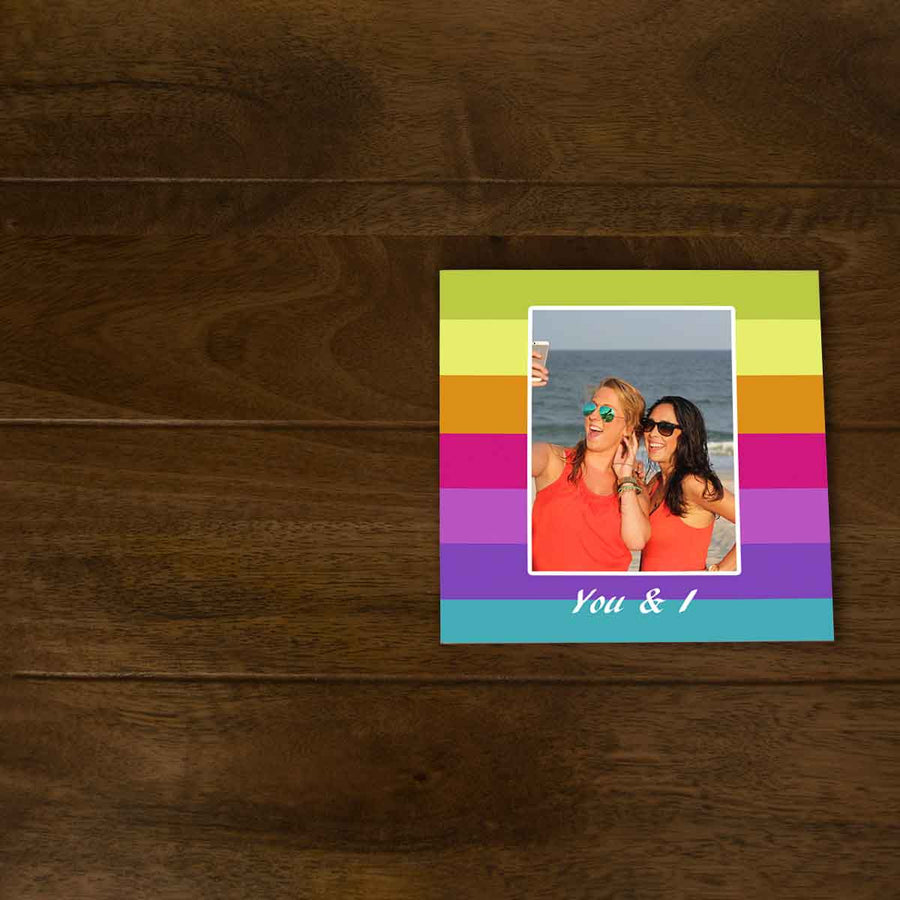 Softcover Photo Books-Stripes Flip Photo Book-6 inches x 6 inches-20 Pages